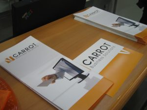Carrot Business Solutions - Flyer auf Learntec 2008