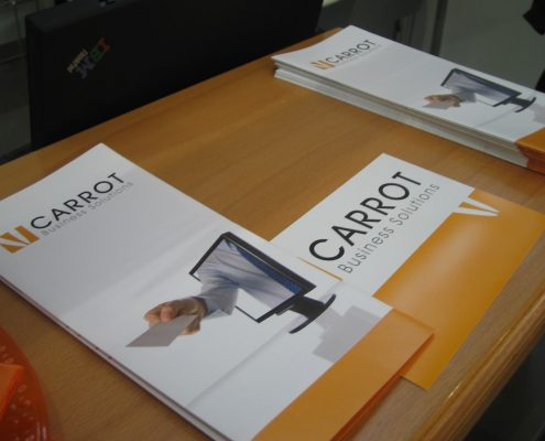 Flyer von Carrot Business Solutions auf der Learntec