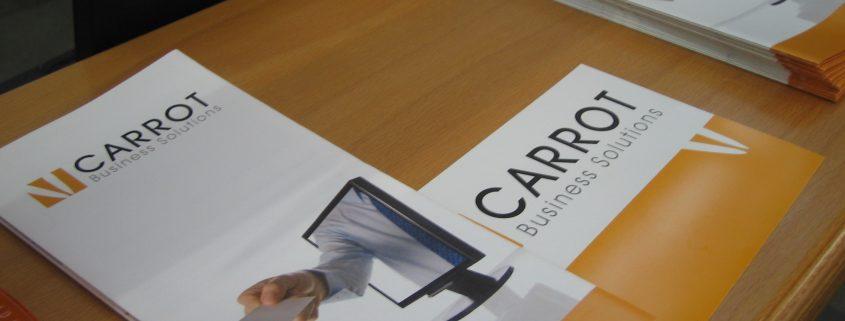 Flyer von Carrot Business Solutions auf der Learntec