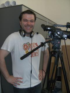 Felix Henrich beim Filmen