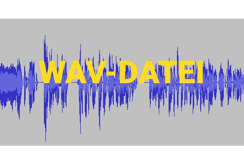 Audiowellen in Audioaufzeichnungsprogramm Audacity