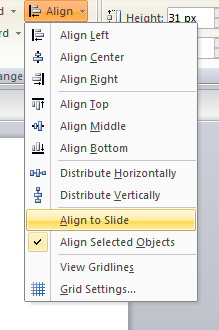 Articulate Storyline - Align Tab