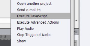 Adobe Captivate Execute Javascript