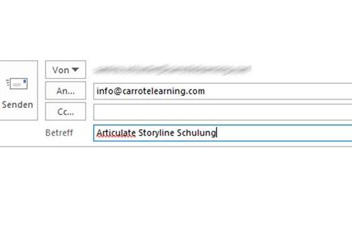 Articulate Storyline - automatische Betreffzeile in Email