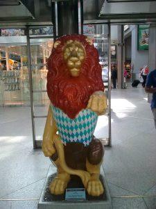 Der Löwe am Hauptbahnhof München begrüßt die Gäste des Articulate Community Event 02 in München