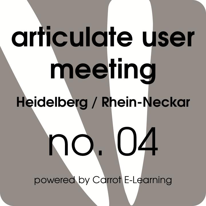 articulate user meeting heidelberg rhein neckar 2016 01 einladung carrot e. Black Bedroom Furniture Sets. Home Design Ideas