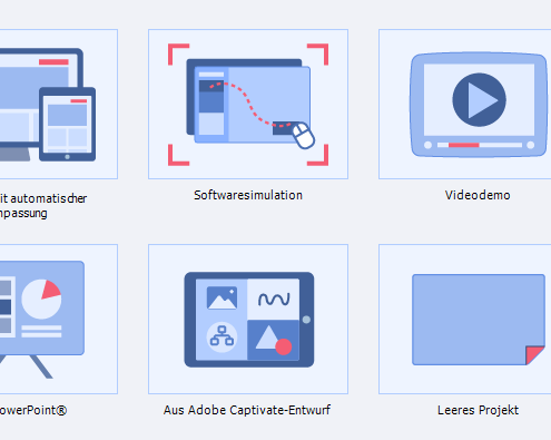Startseite Adobe Captivate 2017