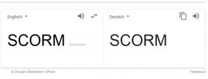 Die Google - Übersetzung von SCORM