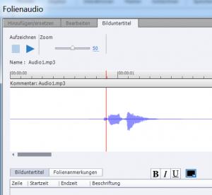 Adobe Captivate Cursor im Audioeditor
