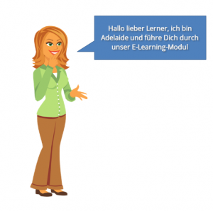Character Adelaide aus dem Rapid E-Learning - Tool Articulate Storyline 3