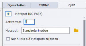 Adobe Captivate - 3 Hotspots einfuegen