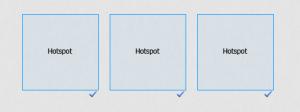 Adobe Captivate - 3 Hotspots wurden einfuegt