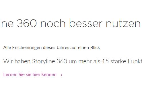 Deutsche Sprachversion von Articulate Storylien 360 - Startbildschirm