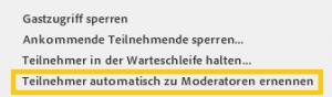 Adobe Connect - Die Teilnehmer automatisch zu Moderatoren benennen