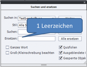 Ersetzen in Adobe Captivate