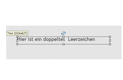 Doppeltes Leerzeichen in Adobe Captivate
