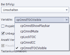 TOC-Variable bei Adobe Captivate umschalten