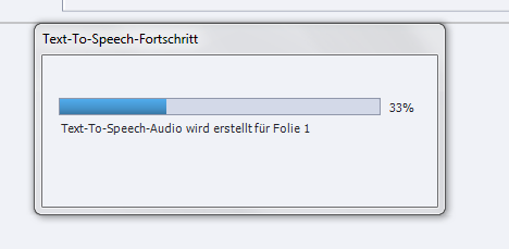 Text-To-Speech-Audiodatei in Adobe Captivate