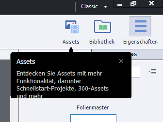 Assets in Adobe Captivate 2019