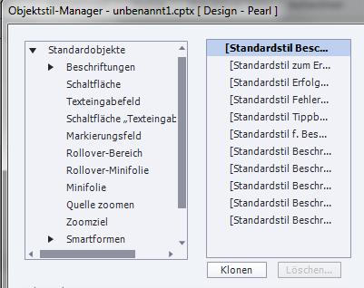 Adobe Captivate - Objektstil-Manager