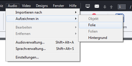 Adobe Captivate - Folienaudio