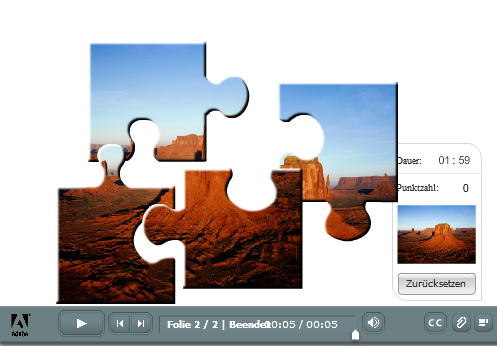 Adobe Presenter - Jigsaw Puzzle Interaktion