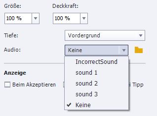 Sound bei Drag&Drop in Adobe Captivate