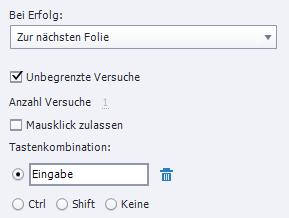 Adobe Captivate - Navigation mit Tastatur